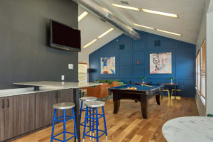 Clubhouse with TV and Pool Table